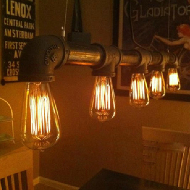 loft industrial Iron water Pipe steam punk Vintage pendant lamp cord E27 led lights for personalized bar restaurant cafe цены