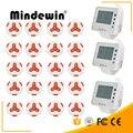Mindewin 20 шт. передатчик вызова ButtonM-K-3 + 3 часы получить M-W-1 ресторан пейджер Беспроводная система вызова питание оборудование