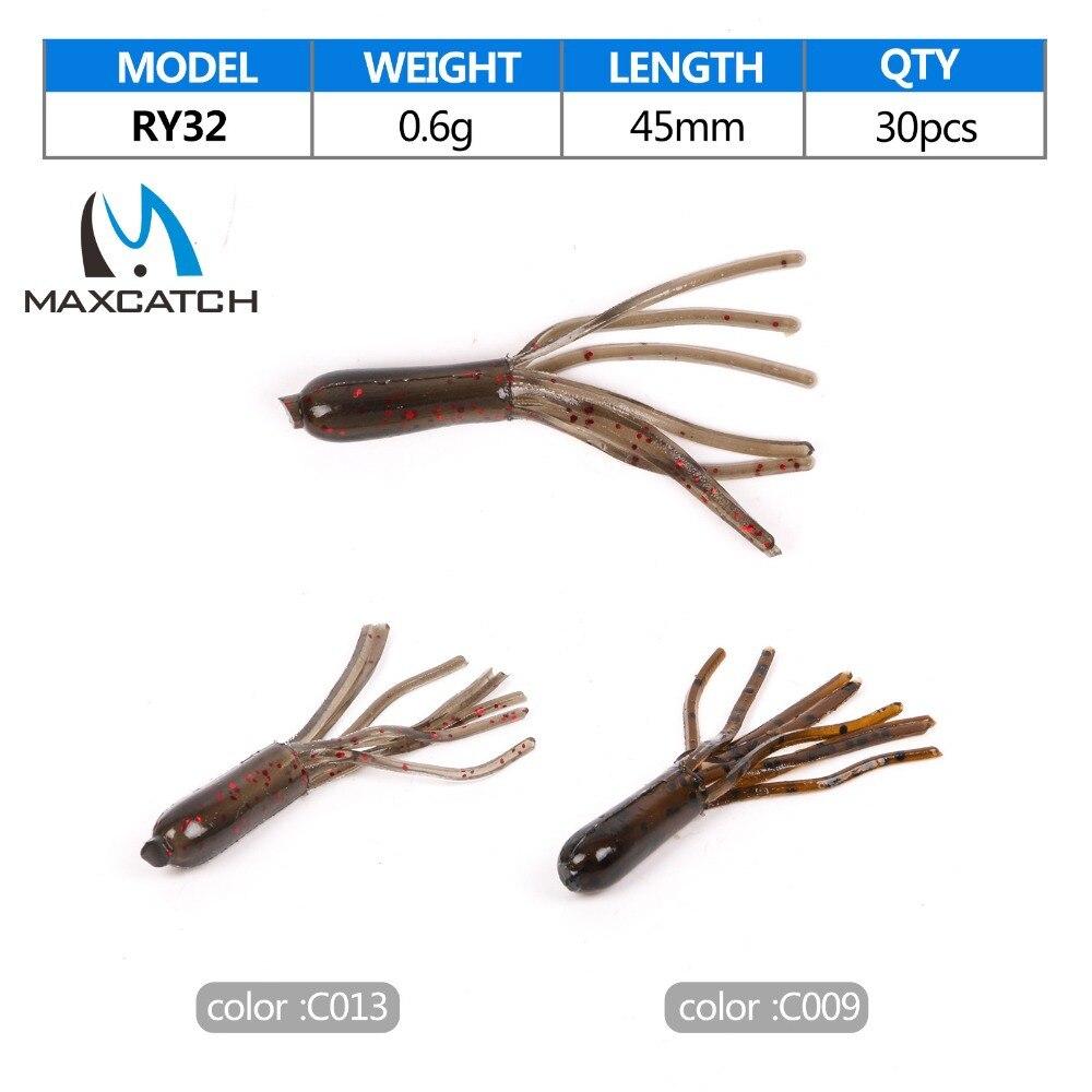 Maximumcatch Pesca Artificial Lure 30Pcs/lot Soft Fishing Lure Tubes 45mm 0.6g Artificial Bait Worm Soft Bait Tubes