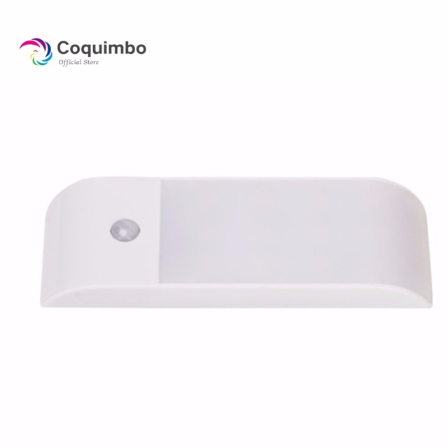 SMD LED Sensor Light USB Rechargeable Under Cabinet Lighting Magnet PIR Motion Sensor Night Light For Closet Wardrobe Kitchen