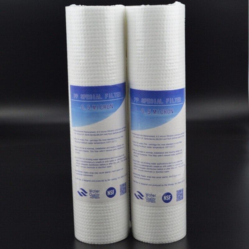 Image 3 - Хлопок PPF фильтрующий картридж для водоочистителя 2шт 10 дюймов PP Хлопок 0,5 микрон осадочный фильтрующий картридж-in Водяные фильтры from Бытовая техника