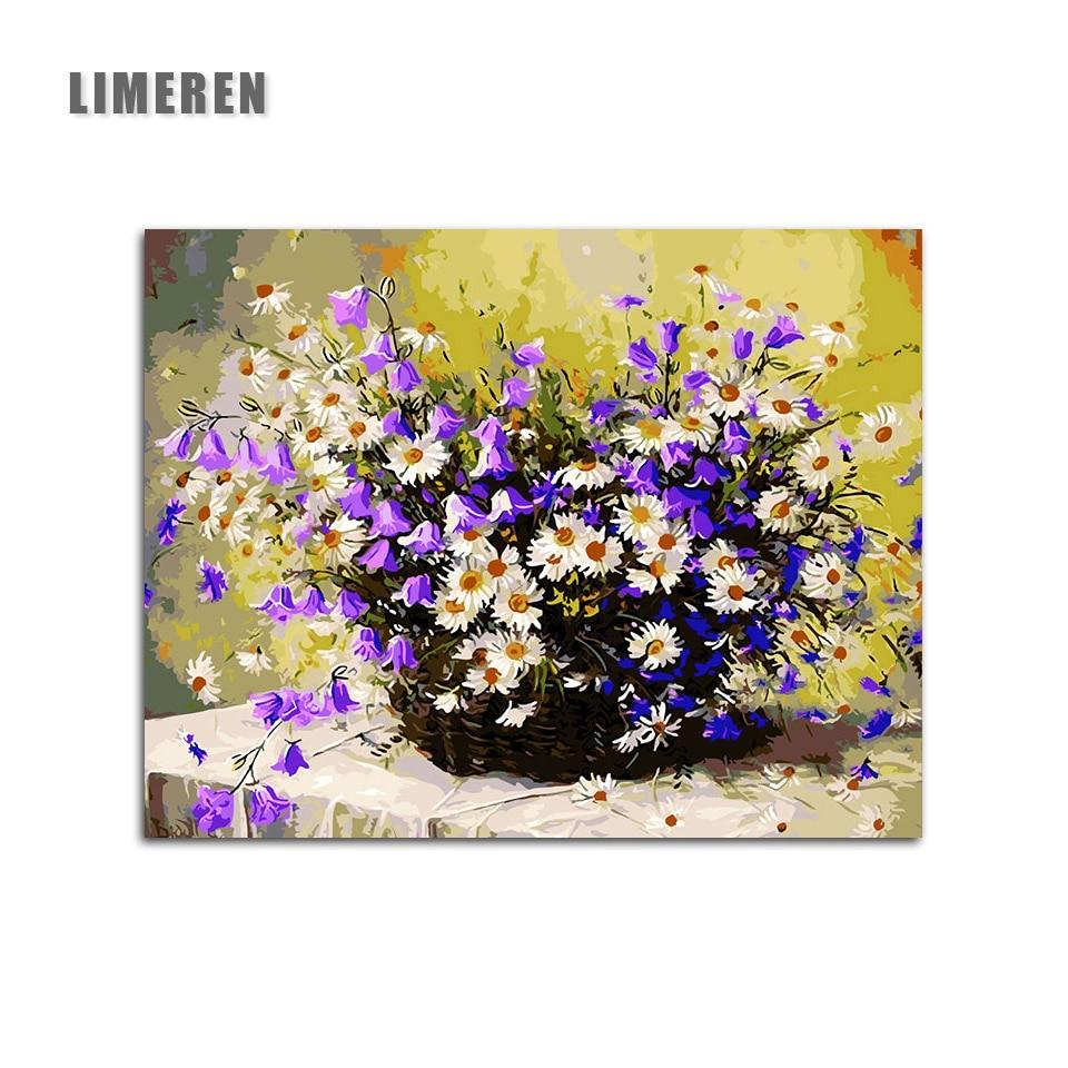 Bricolage Coloriage Par Numéros Violet Gypsophile Daisy Fleur