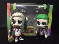 4 10cm Doll Batman Suicide Squad Harley Quinn The Joker Hammer Set Anime Figure Kids Collectible