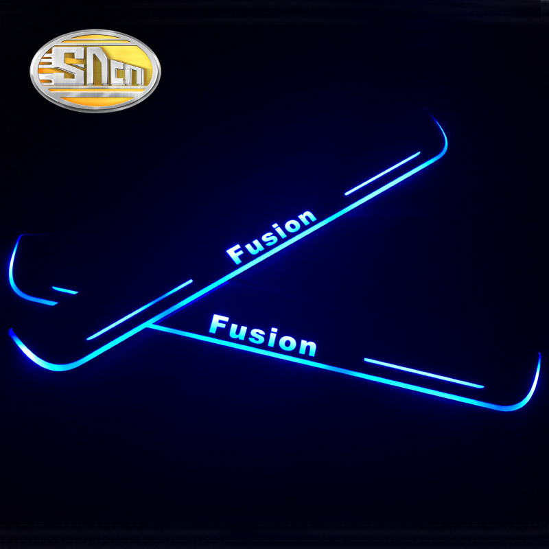 SNCN 4PCS Acrylic Moving LED Welcome Pedal Car Scuff Plate Pedal Door Sill Pathway Light For Ford Fusion 2015 2016 2017 2018-in Car Stickers from Automobiles & Motorcycles    1