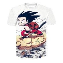 ФОТО 2018 new cartoon dragon ball super saiyan super goku shell men's t-shirt breathable quick-drying summer fashion 3d print t-shirt