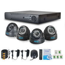 Jooan 4CH системы видеонаблюдения 960 H HDMI видеонаблюдения DVR 4 шт. HD 700TVL Крытый Купол CCTV Камера 24leds дома Система видеонаблюдения Комплекты