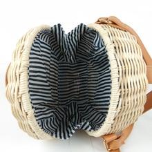Round Straw Bags Women Summer Rattan Bag Handmade