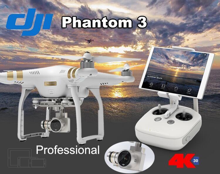 100% Original Dji Phantom 3 Professional Camera Drone FPV RC Helicoper with 4K Camera DHL Free