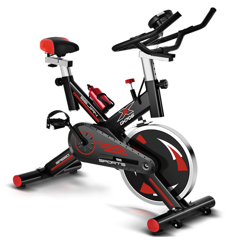 Di alta qualità indoor cycling bici cyclette a casa in bicicletta ultra-silenzioso attrezzature per il fitness sport indoor 250 kg di carico di Filatura della bicicletta
