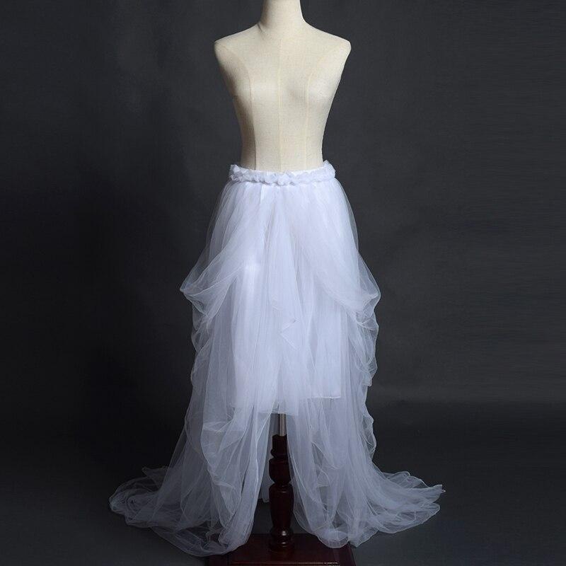 Bohemian Layered Draped Tulle Skirt Sky Blue/Black/Rose Red/Orange/Burgundy Bridal Gown Skirt