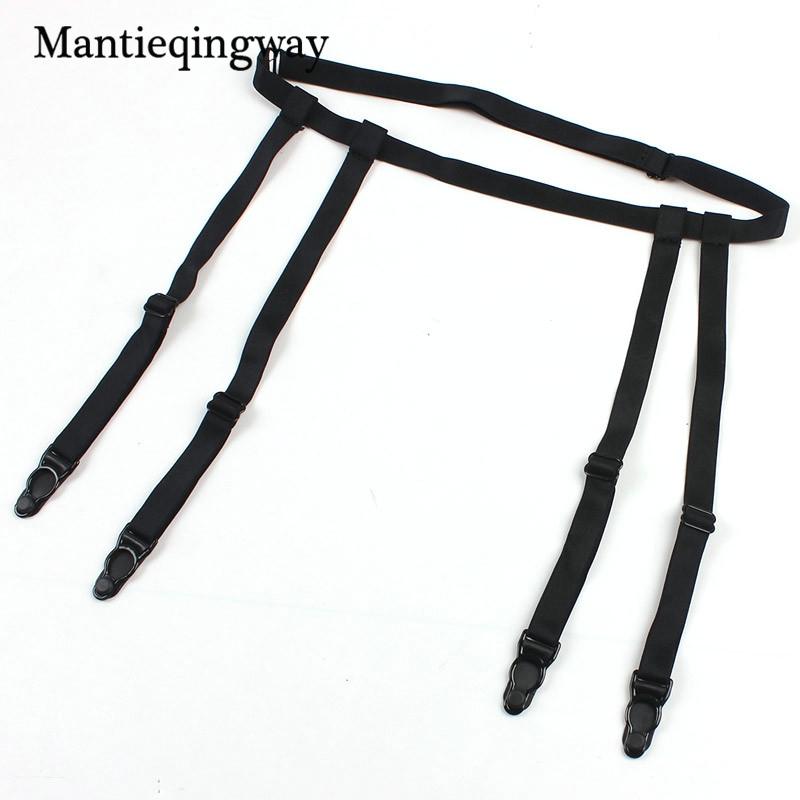 Men's Accessories Mantieqingway Solid Color Shirts Holders For Men Womens Sexy Garters Fashion Punk Strap Band Leg Adjustable Suspender Straps Men's Suspenders