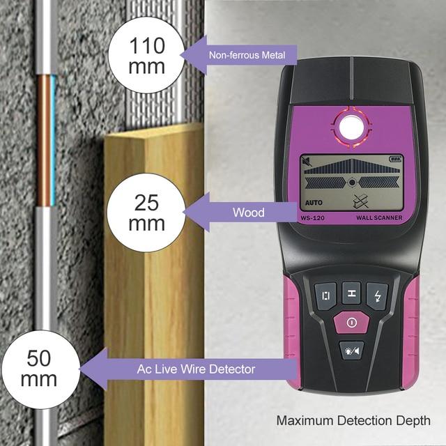Handheld Wand Detektor Draht Finder Wand Scanner WS 120 Metall Holz ...