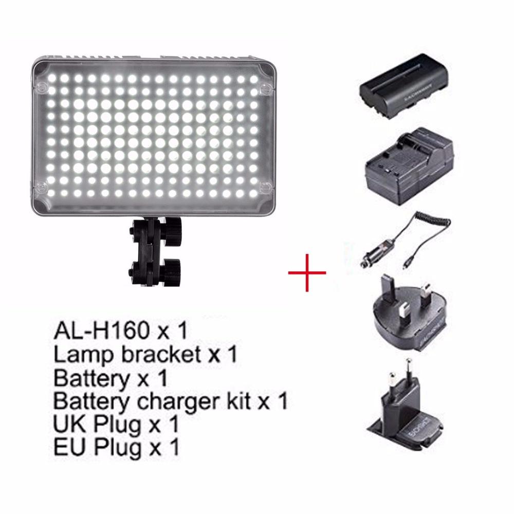 Aputure AL-H160 CRI95+Amaran 160 LED Video Light + Battery + Battery Charger, LED Video Light,for Canon Nikon SONY DSLR Camera цена и фото