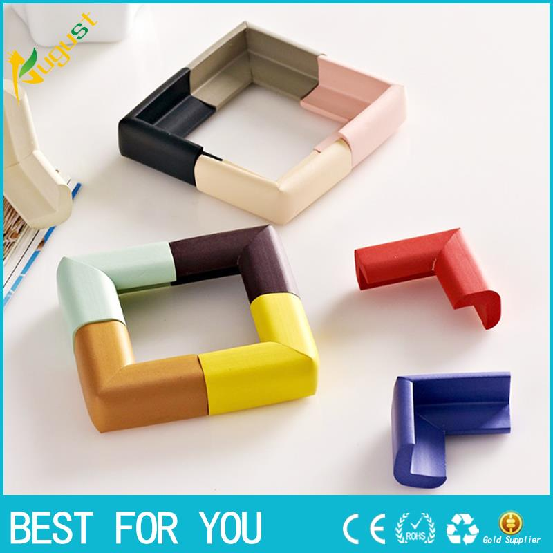 8pcs/lot 60*60*12mm Soft Baby Safe Corner Protector Baby Kids Table Desk Corner Guard Ch ...