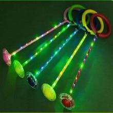 5 Colors New Flash Jump Pole Light Poles Glow Fashion Kids Toys Jumping ball Thick Rod Single Leg Kick Ball New Kids Play 2019