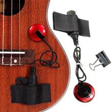 2018 Professional Piezo Contact Microphone Pickup with Clamp Strap For Guitar Violin Ukulele Banjo(China)
