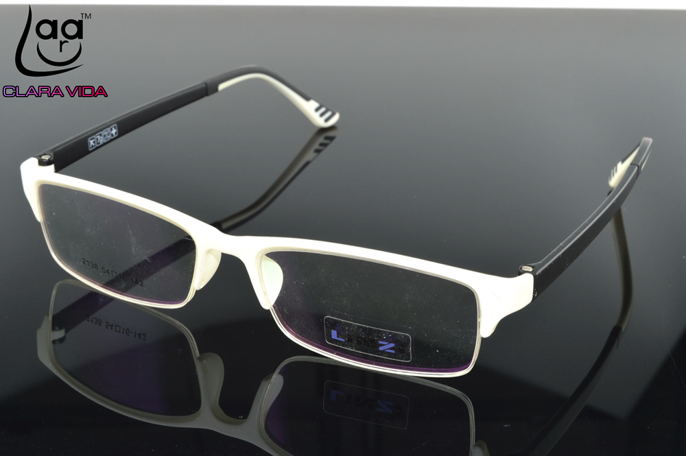 only 7g tr90 ultra light designer glasses frame white
