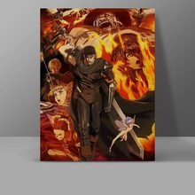 Berserk Guts Wall Pictures Dark Manga Japanese Anime Canvas Painting Novely Collective Waterproof High Quality Cotton Poster