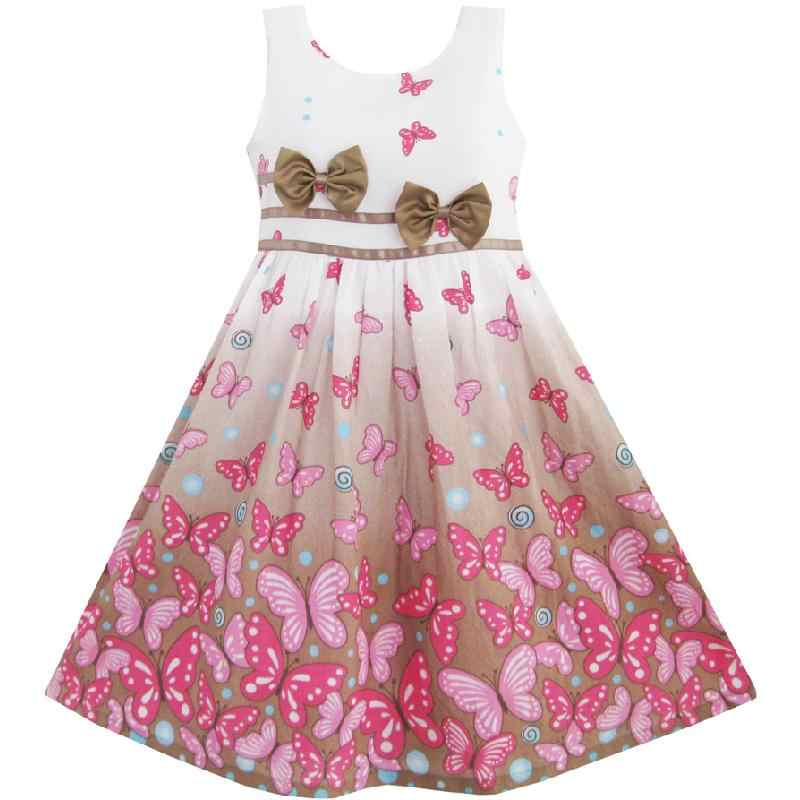 451b0b7c0a6 ... Girls Dress Purple Rose Flower Double Bow Tie Party Kids Sundress 2018  Summer Princess Wedding Dresses ...