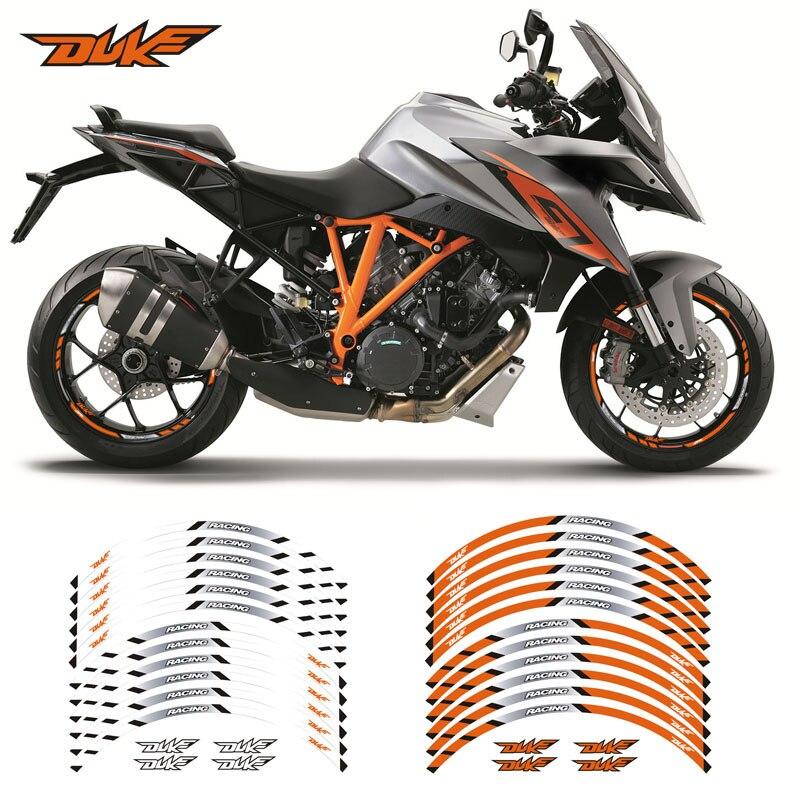Negro Brillante Motocicleta Moto Llanta Inner Rim Tape Decal Pegatinas para Yamaha MT09