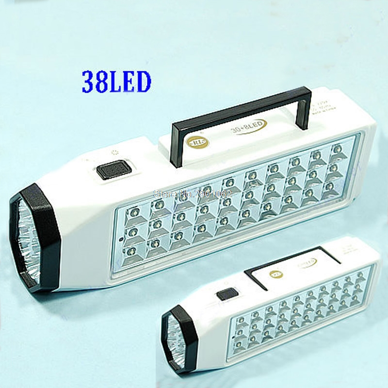 LED Flashlight Mini 38-LED Rechargeable Emergency High Capacity rechargeable emergency light lamp -B119