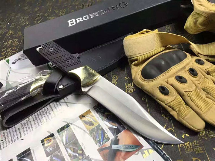 Buy A3 Browning Hunting Fixed Knife 8Cr14Mov Blade Tactical Knives Utility Outdoor Camp Knives Multi Survival Tools cheap