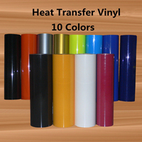 PU Heat Transfer Vinyl HTV for T Shirts 12 x16ft Roll Easy to Weed Iron on Vinyl for Cricut & Silhouette Cameo