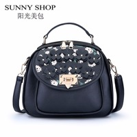 SUNNY SHOP Designer Handbags High Quality Leather Women Bag Famous Brand Shoulder Bag Fashion Women Messenger