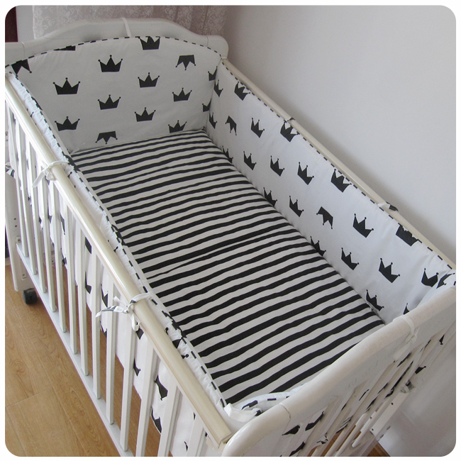Promotion! 6PCS Baby cotton bedding set 100% child piece set baby bed around (bumpers+sheet+pillow cover)