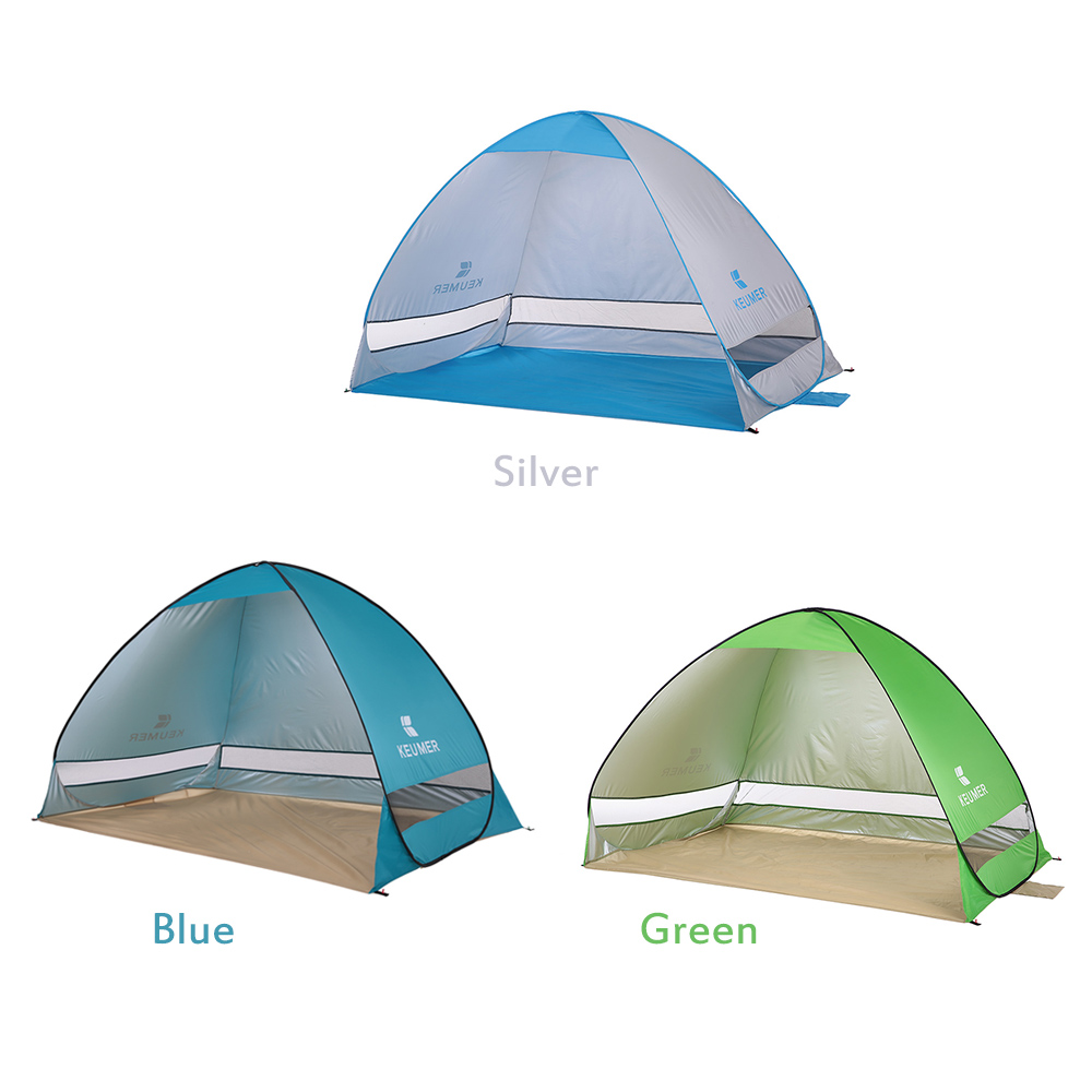 Image 4 - 200*120*130cm Outdoor Automatic Instant Pop up Portable Beach Tent Anti UV Shelter Camping Fishing Hiking Picnic Outdoor Camping-in Tents from Sports & Entertainment