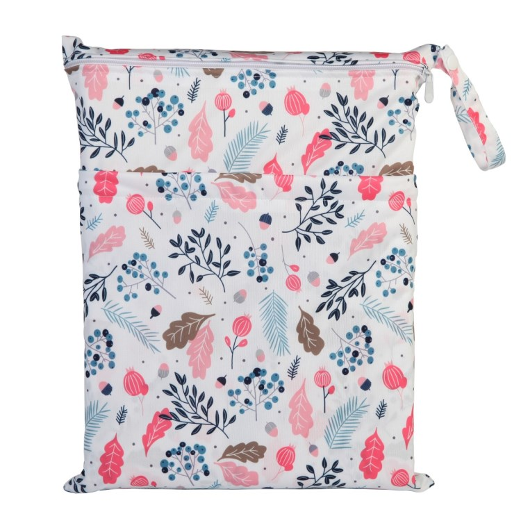 [Sigzagor] 1 Влажная сухая сумка с двумя молниями для детских подгузников, водонепроницаемая сумка для подгузников, розничная и, 36 см x 29 см, на выбор 1000 - Цвет: WH17
