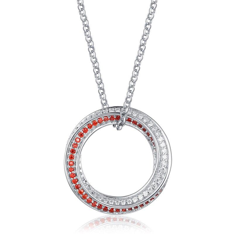 AILIN nouveauté! collier de naissance 2 couleurs en argent Sterling gravé Mobius pour elle en or blanc cadeau spécial pour les femmes