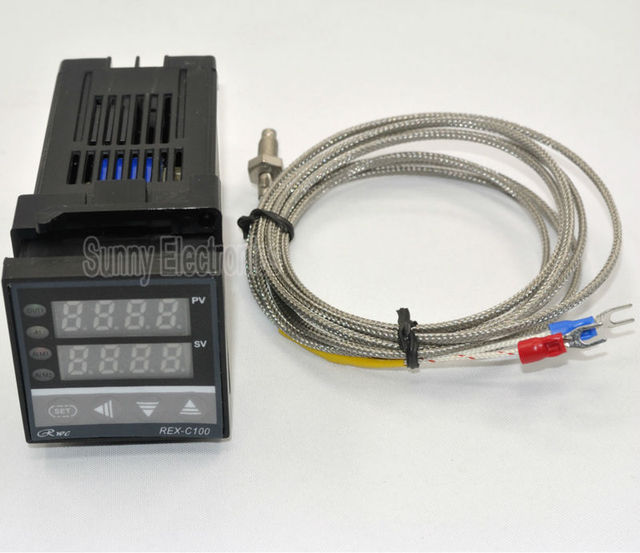 Dual Digital PID Temperature Controller REX C100 with thermocouple K ...