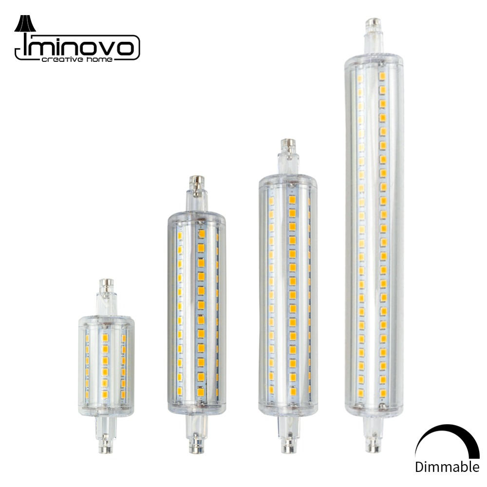 R7S J78 J118 Led Bulb Corn Lamp Dimmable 78mm 118mm 135mm 189mm Replace Halogen 25W 150W 500W Spot Light Floodlight AC 220V 110V high power dimmable 189mm led r7s light 50w cob r7s led lamp with cooling fan replace 500w halogen lamp