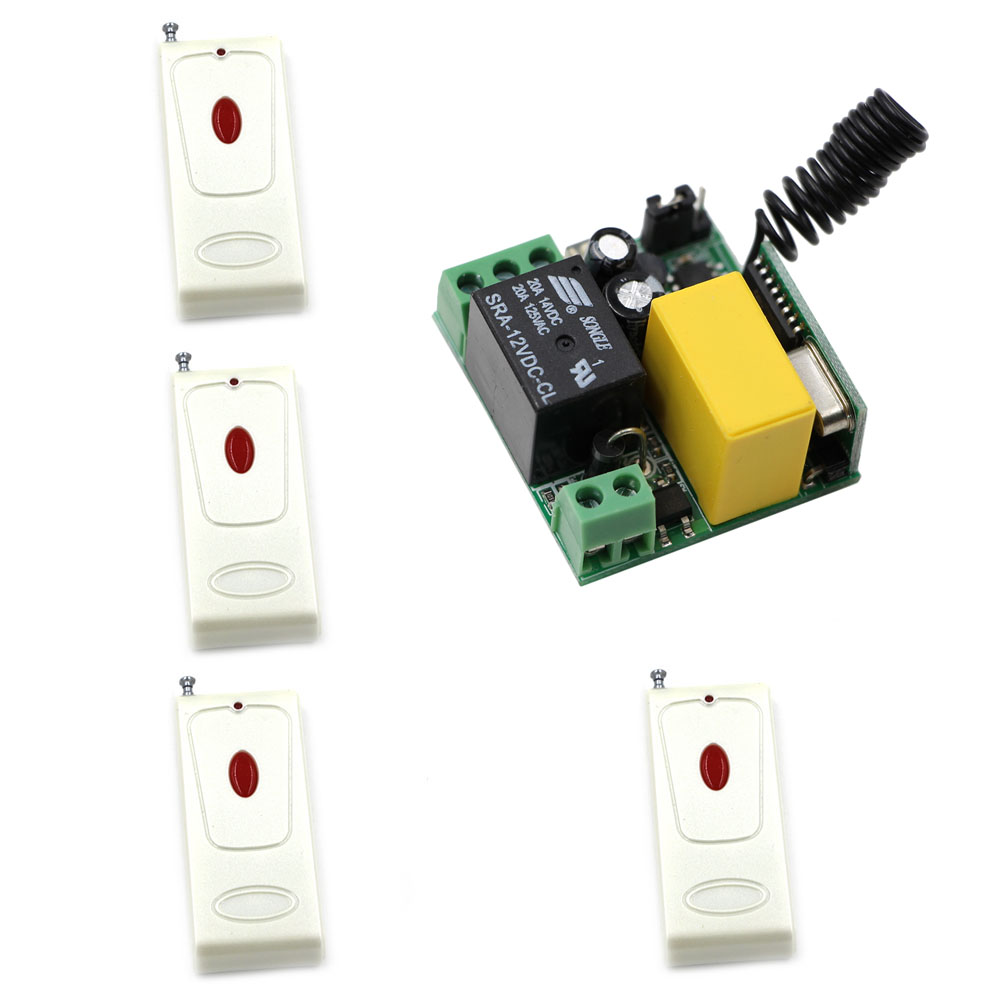 AC 220V Wireless Remote Switch Radio Control Switch Micro Remote Light Power Switch Radio Output 220V 1CH Relay Transmitter ac 250v 20a normal close 60c temperature control switch bimetal thermostat