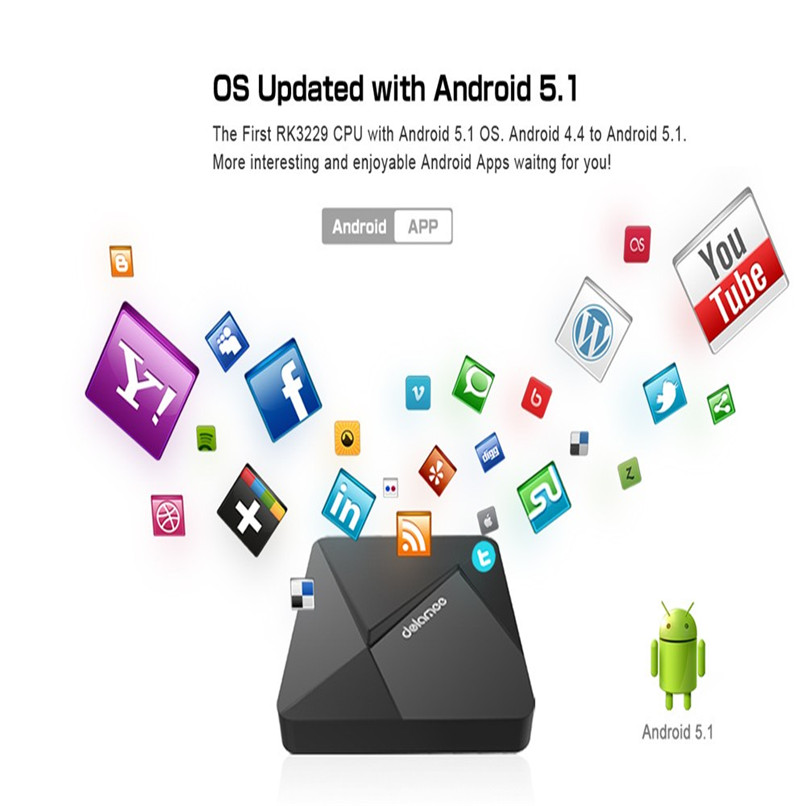 Nuevo Android TV Box, Reproductores Multimedia XBMC Fully Loaded Android 5.1 Os
