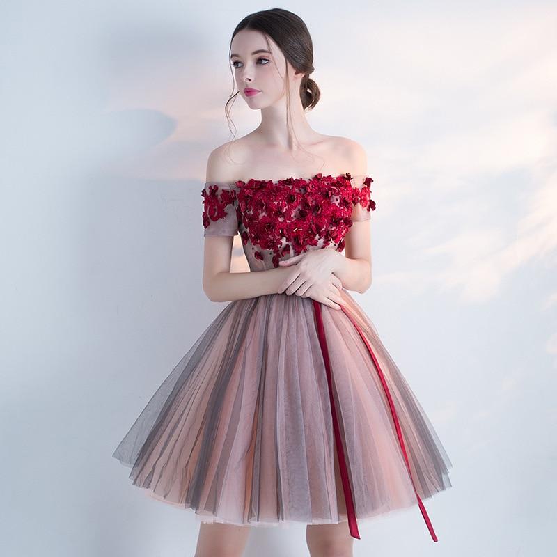 Mingli Tengda 2018 Luxury Boat Neck   Bridesmaid     Dresses   Elegant Lace Off the Shoulder   Bridesmaid     Dress   robe demoiselle d'honneur