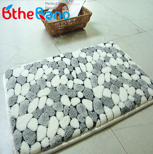 Gallery 23 Images Of Awesome Round Bathroom Rugs Ideas Cool Gray Stone Patterned