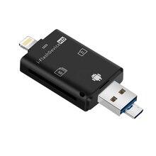 Многов 1 TF USB адаптер памяти для картридера Micro SD, адаптер для флеш накопителя, многоotg ридер для iPhone 5, 5S, 5C, 6, 7, 8