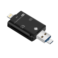 Multi In 1 TF หน่วยความจำ USB สำหรับ Micro SD Card Reader อะแดปเตอร์สำหรับ Flash Drive OTG สำหรับ iPhone 5 5S 5C 6 7 8