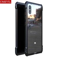OMEVE For Xiaomi Mi 8 Case Mi8 Pro Case Tempered Glass Back Cover Alloy Metal Frame Bumper for Xiaomi Mi 9 8 9T Pro Mi9 Cases