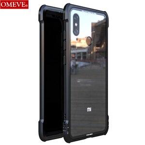 Image 1 - OMEVE For Xiaomi Mi 8 Case Mi8 Pro Case Tempered Glass Back Cover Alloy Metal Frame Bumper for Xiaomi Mi 9 8 9T Pro Mi9 Cases