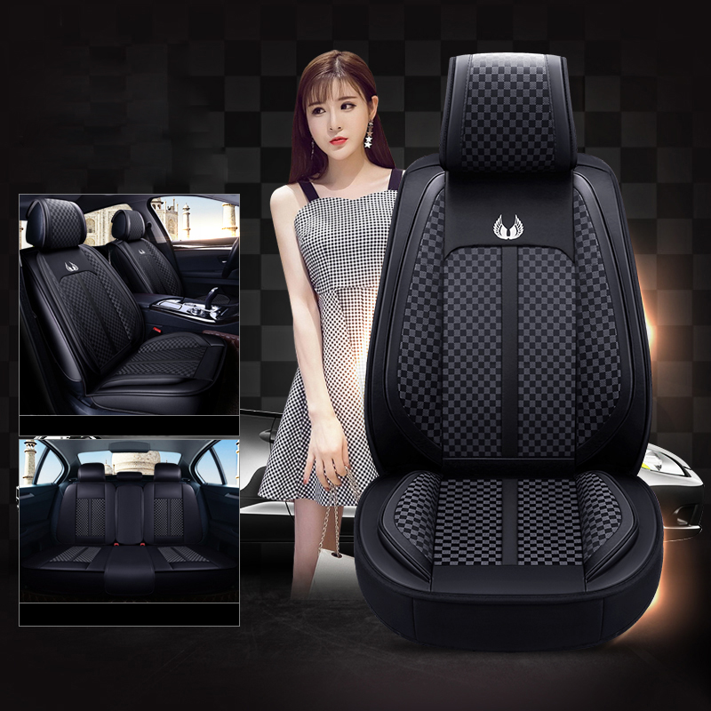 5 seats car seat cover fabric PU leather automobile seat cover for Range Rover Discovery 4 Freelander 2 Range Rover Sport