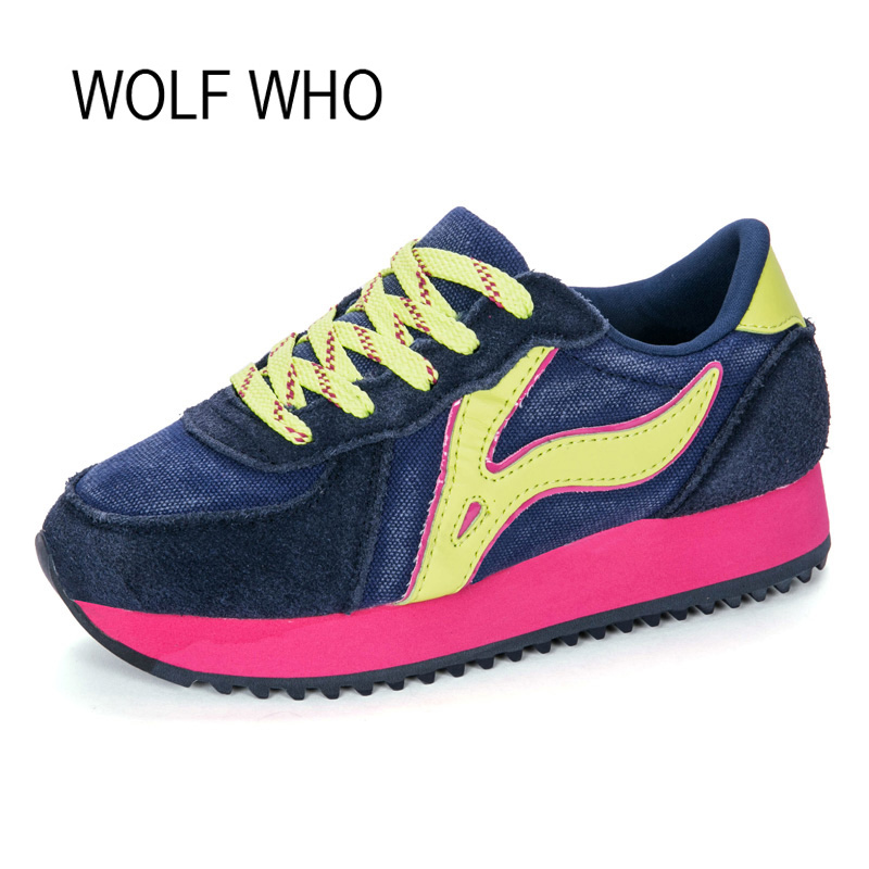 WOLF WHO Creeper Platform Sneakers Women Shoes Ladies Tenis Feminino Casual Female Chaussure Femme Basket Femme Code to X213
