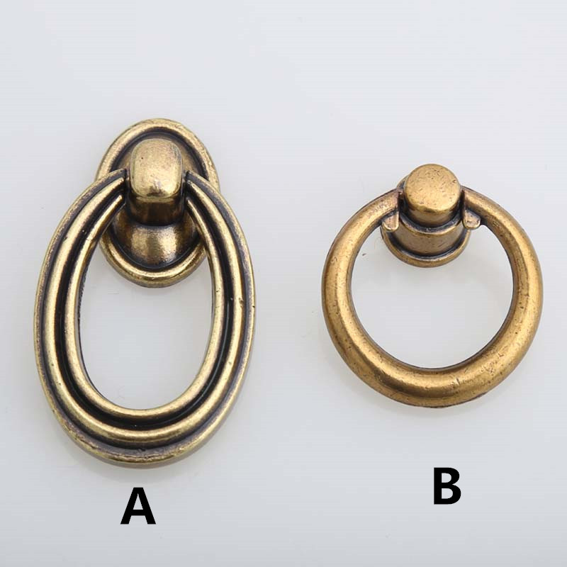 Vintage style furniture small knobs bronze drawer shoe for Small cabinet pulls