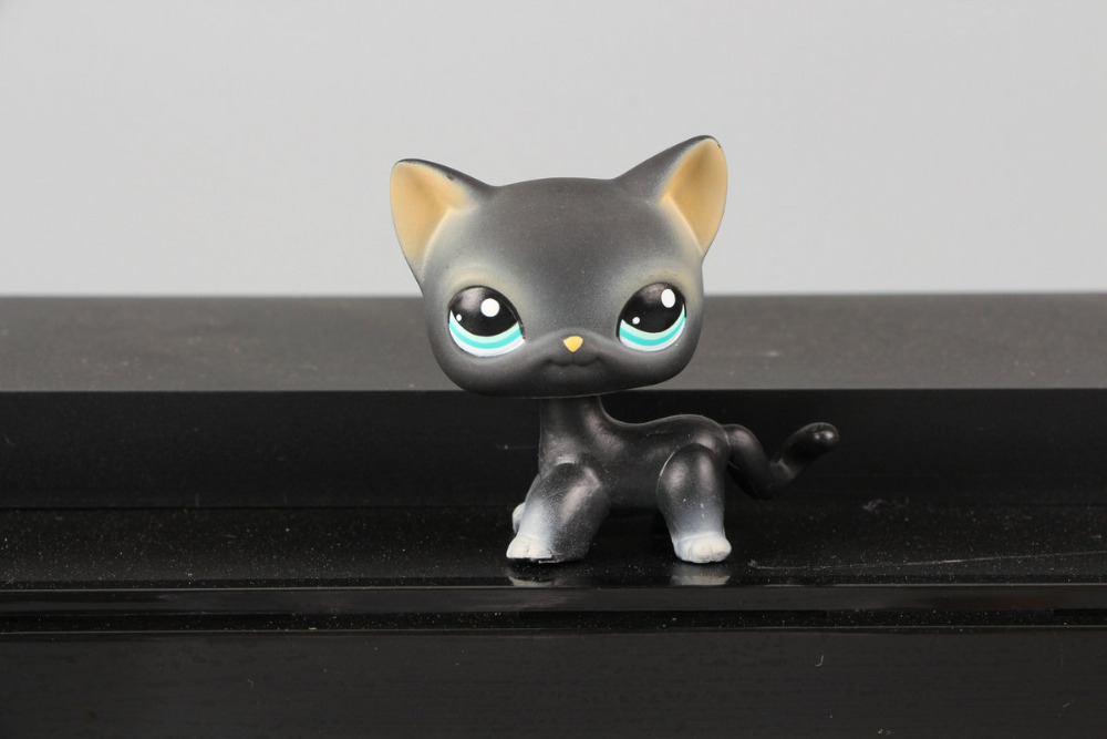 Lovely Pet Collection LPS Figure Toy Black Short Hair Siamese Cat Blue Eyes 994 Nice Gift