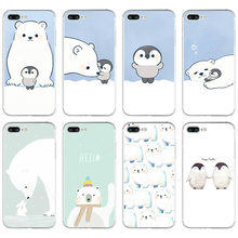 ab23c7a174 Cute Polar Bear Penguin Soft Silicone Clear TPU Case Cover For iphone 6 6S 7  8