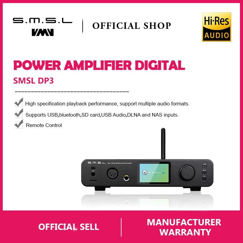 SMSL DP3 DAC ES9018Q2C USB Decoder Verstärker Ausgewogene Digital Bluetooth4.0 LAN Netzwerk WIFI DSD Koaxial/Optische DAC Audio AMP