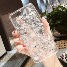 LOVECOM Platinum Marble Phone Case For Apple iPhone X 6 6S 7 8 Plus Epoxy  Soft f2ed86095d5f