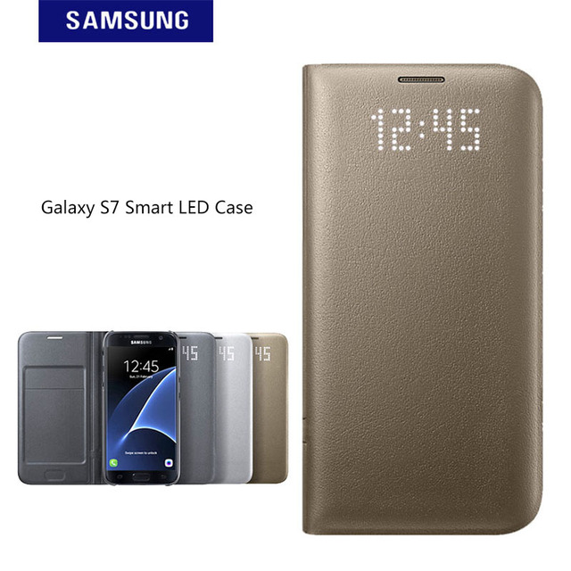 check out c3f4f e3a79 Aliexpress.com : Buy Original Samsung S7 LED View Cover Flip Wallet Case  Intelligent Sleep Phone Shell For Samsung Galaxy S7 G930 from Reliable for  ...